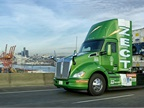 Kenworth's Hydrogen Fuel Cell T680 day cab at the Port of Seattle. Photo: Kenworth