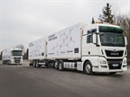A customer of MAN Truck & Bus will be testing platooned trucks in revenue runs this year on the A9 highway that runs between Munich and Nuremberg in Germany. Photo: MAN Truck & Bus