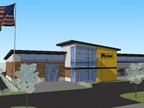 Design rendering of new corporate HQ courtesy of Marion Body Works.