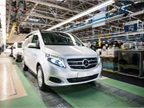 Photo of Mercedes-Benz V-Class van in March 2014 courtesy of Daimler.