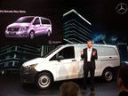 New for North America is the Mercedes-Benz Metris, rolled out at NTEA. Photo: Tom Berg