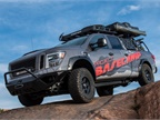 The Nissan TITAN XD PRO-4X Project Basecamp, designed for self-sustaining exploration of backcountry, is capable of taking on any climate or terrain in its path.(Photo courtesy of Nissan)