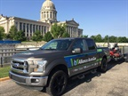 On May 11 the propane autogas Ford F-150 visited the State Capitol in Oklahoma City, Okla. (PHOTO: Alliance AutoGas)