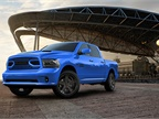 Production of the uniquely colored Ram 1500 Hydro Blue Sport will be limited to 2,000 trucks in the U.S. (Photo courtesy of FCA US)
