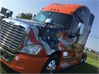 This year's Ride of Pride truck is a 2017 Freightliner Cascadia Evolution equipped with a Detroit DD15 engine. (PHOTO: DTNA)