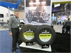 Cooper Tire's Gary Schroeder by the Roadmaster display at the ATA's Management Conference and Exhibition. Photo: David Cullen