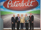 (L-R) Robert Woodall, Peterbilt director of sales and marketing; Rusty Rush, Dealer Principal; Marvin Rush, Dealer Principal; Joe Walls, General Manager; Bill Kozek, Peterbilt General Manager and PACCAR Vice President