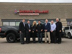 Harold and Shelly Swan, owners of Affordable Auto Body and Paint in Loveland, Colo., were presented with the truck at a special ceremony at Sherwin-Williams' Fort Collins Colo., Automotive Finishes Store.