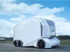 The T-Pod is an all-electric autonomous truck capable of running 124 miles on a single battery charge. Photo: Einride