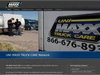 The UNI-MAXX TRUCK CARE website provides transportation industry professionals with information about Goodyear's recently launched on-highway truck service network
