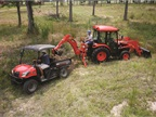 KIOTI Tractor's MECHRON 2200 UTV and DK50SE hard at work.