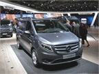 Mercedes Vito van at IAA. The van is scheduled to come to the U.S. in about a year. Photo: Jim Park