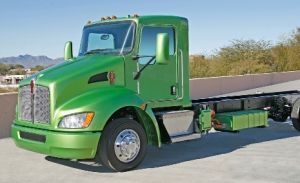 Kenworth T270 Class 6 hybrid-electric truck.