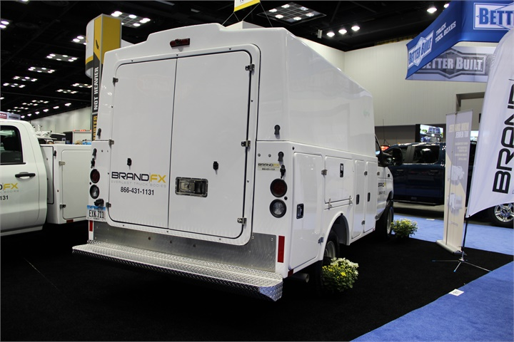 BrandFX introduced the new all-composite service truck body and