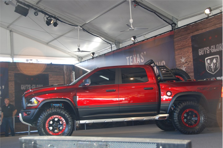 ram also unveiled its rebel trx concept vehicle the ram 1500 rebel 2016 texas state fair. Black Bedroom Furniture Sets. Home Design Ideas