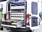 The DuraRac van shelving system from Dejana helps vocational fleets