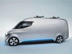 The van uses an electric drive system that s emission free and