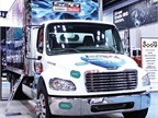 The propane-autogas-powered Freightliner S2G presented its upfit