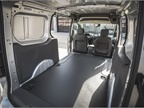Inside, the 2019 Ford Transit Connect offers redesigned front seats