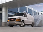 The GMC Savana cargo van includes an optional crew option so you can seat up to five. Behind the added three-passenger rear bench is a bulkhead to separate cargo from passengers.
