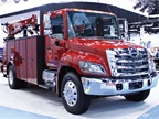 Hino Trucks displayed its tested Model 338 (pictured) featuring a