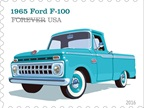 The 1965 Ford F-100 had a new grille that featured 18 small