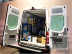 The van will be a good fit for plumbers, electricians, and other