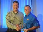 Ken Marvenko (left), director of safety and driver development, Paper Transport was awarded Heavy Duty Trucking's 2017 Safety and Compliance award. Joe Rader, vice president of risk services for Fisher Auto Parts, was the recipient of the Fleet Safety Award.