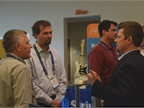 Attendees share information between sessions.