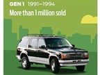 The 1991 Explorer featured a 4.0-liter V-6 engine and got 15 mpg in the city and 19 mpg on the highway.