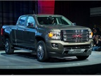 GM's 2015 GMC Canyon mid-size pickup, a cousin of the Chevrolet Colorado, arrived in Detroit.