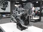 The Detroit DD8 medium-duty diesel was unveiled at the show.The 7.7L