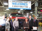 From left: U.S. Senator Rob Portman (R-Ohio); Congresswoman Marcy Kaptur (D-Ohio, 9th Dist.); Tim Rowe, UAW chairman, Ohio Assembly Plant; Greg Drudi, UAW administrative assistant; Lieutenant Governor Mary Taylor (R-Ohio), Gary Polakowski, plant manager; and Joe Hinrichs, Ford president, The Americas.