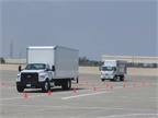 A course was set up for attendees to drive the FTR back to back with a