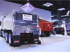 Crysteel displayed its new aluminum dump body, equipped with a