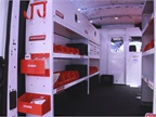 Weather Guard displayed a van with a variety of shelving and storage