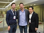 The DriverDo team: Brian Schwarze is flanked by Kevin Burke (left) and