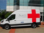 Five new Ford Transit vans are in use as Red Cross emergency response and life-saving blood transport vehicles in Detroit; Lexington, Kentucky; Louisville, Kentucky; Cleveland, Ohio; and Portland, Oregon.