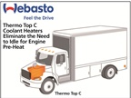 The Webasto Thermo Top C engine pre-heater warms the engine and fluids