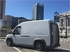 The van features a low floor for operator ease.