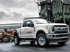 XL is unveiling the industry's first-ever XLH hybrid-electric Ford F-250 pickup in its booth while also displaying an XLP plug-in hybrid-electric F-150. (Photo courtesy of XL Hybrids)