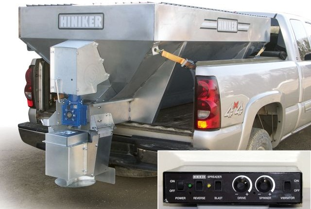 <p><span>Hinker's</span>new dual-motor electric spreaders<span>provide individual variable speed control for the conveyor and the spinner. <em>Photo courtesy of Hiniker</em></span></p>