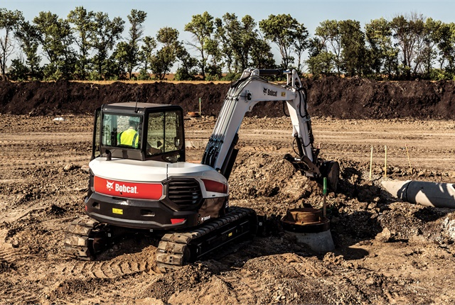 <p>Bobcat Company E85 compact excavator. <em>Photo courtesy of Bobcat</em></p>