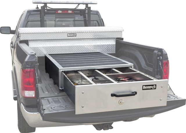 <p><em>Photo of Slide Out Truck Bed Box courtesy of Buyers Products. </em></p>