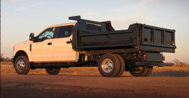 <p>The decking of the HD Dump Body is manufactured from 3/16-inch steel, with a single seam designed to reduce rust and corrosion. The two-point 24-inch tailgate is a practical feature sure to be popular with users. <em>(Photo courtesy of CM Truck Beds)</em></p>