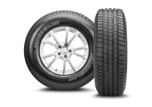 <p><em>DEFENDER LTX M/S tires now cover 75% of light-duty truck models. (Photo courtesy of Michelin)</em></p>
