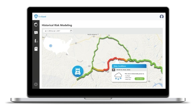 <p><em>Patented technologies include real-time and forecast road conditions that identify dangerous roads before the delays begin. (Image courtesy of Baron)</em></p>