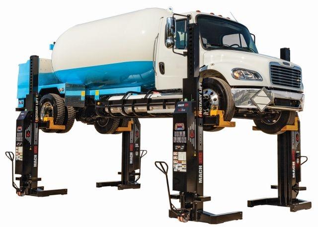 <p><em>Photo of MCHF13 Mach Flex mobile column lift courtesy of Rotary Lift.</em></p>