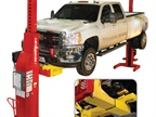With the Rotary Lift frame adapter kit, fleet operators can lift Class 3 and most Class 4 trucks with just two Mach series mobile columns instead of four.