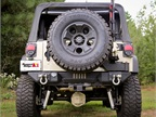 <br /><br />Rugged Ridge's new  Gen II Swing and Lock Tire Carrier eliminates the two-step tailgate opening process found in other designs and has the capacity to safely accommodate up to 37-inch wheel and tire packages.<br /><br />Photo Credit: Omix-ADA